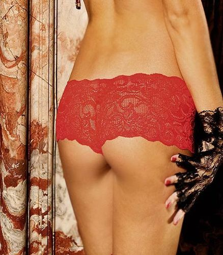 Lace Boyshorts (Seven til Midnight) - Red